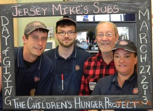 MAR 27 2013 DAY OF GIVNG JERSEY MIKES SUBS