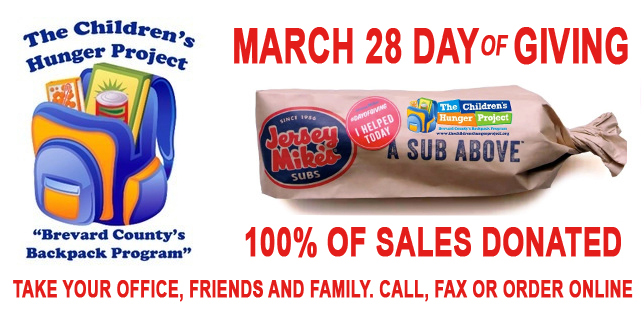 DAY of Giviing JERSEY MIKES MARCH 28TH