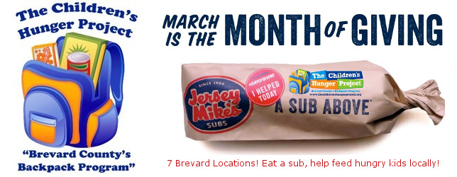 More children in Brevard are now able to receive weekend food packages because of your help! Share with friends and co-workers to join our campaign. Contribute just $12.50 per month to help feed a hungry child for one entire school year. That's less than 42 cents per day